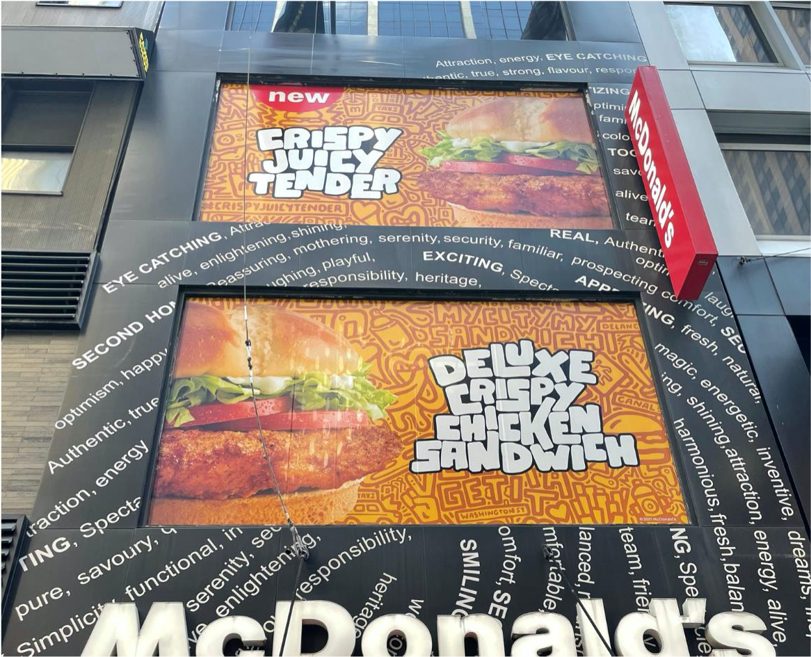 Adding some local flavor to the McDonald's Crispy Chicken launch.